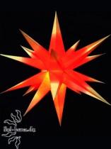 Klassischer Advents- & Weihnachtsstern rot/gelb