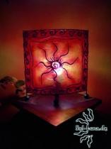 Tischleuchte Resin batik