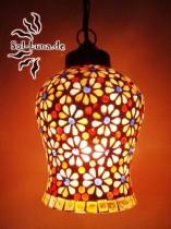 Mosaikhängelampe, Glasmosaik