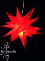 Klassischer Adventsstern / Weihnachtsstern ROT-BATIK