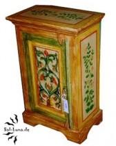 Nachttischschrank, antik & handbemalt