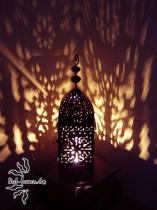 marokkanische Eisenlaterne, edelrost